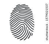 vector icon fingerprint. image... | Shutterstock . vector #1579021537