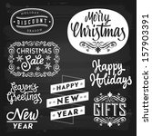 christmas and new year... | Shutterstock . vector #157903391