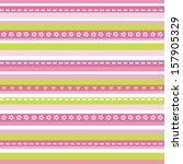 cute seamless striped... | Shutterstock .eps vector #157905329