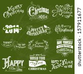 vector set  christmas... | Shutterstock .eps vector #157911677