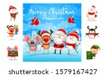 merry christmas greeting card... | Shutterstock .eps vector #1579167427