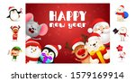 happy new year postcard with... | Shutterstock .eps vector #1579169914