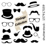 set of collection vintage... | Shutterstock .eps vector #157917059