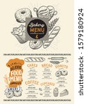 bakery menu template for... | Shutterstock .eps vector #1579180924