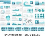 technology infographic template ... | Shutterstock .eps vector #157918187
