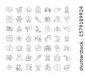 warning linear icons  signs ...
