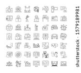 video linear icons  signs ...