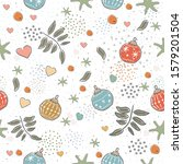 seamless cute pattern with... | Shutterstock .eps vector #1579201504