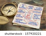 tips for well being   a napkin... | Shutterstock . vector #157920221