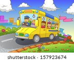 school bus. eps10 file. simple... | Shutterstock .eps vector #157923674