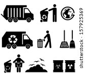 black,broom,cleaning,dump,dump truck,earth,ecology,environmental,garbage,garbage can,garbage icon,garbage truck,globe,hazardous waste,hygienic