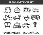 simple set of public transport... | Shutterstock .eps vector #1579294627