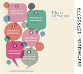 infographics design with speech ... | Shutterstock .eps vector #157935779