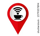 free wi fi zone icon  cup with ... | Shutterstock .eps vector #1579357894