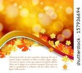 vector modern abstract orange... | Shutterstock .eps vector #157936694