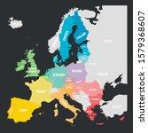 colorful vector map of eu ... | Shutterstock .eps vector #1579368607
