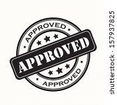Approved stamp retro vintage badges.eps10  - stock vector