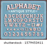 vintage retro tin sign with... | Shutterstock .eps vector #1579453411