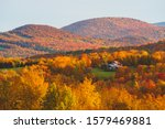 Fall Foliage Across The Rolling ...
