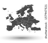 europe map background vector | Shutterstock .eps vector #157947521