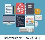 flat design modern vector... | Shutterstock .eps vector #157951331