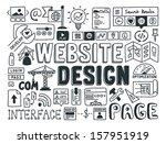 hand drawn vector illustration... | Shutterstock .eps vector #157951919
