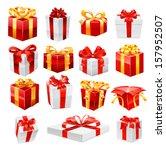 gifts. vector | Shutterstock .eps vector #157952507