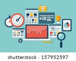 flat design modern vector... | Shutterstock .eps vector #157952597