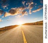 Road In The Wild Xinjiang China