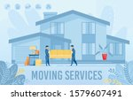 home apartment moving service... | Shutterstock .eps vector #1579607491