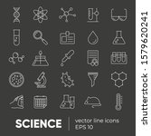 set of 25 vector line icons ... | Shutterstock .eps vector #1579620241