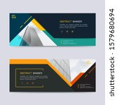 vector abstract header and... | Shutterstock .eps vector #1579680694