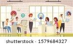 call center customer online... | Shutterstock .eps vector #1579684327