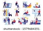 online education set with... | Shutterstock .eps vector #1579684351