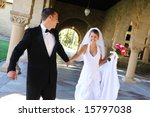 a beautiful bride and groom  at ... | Shutterstock . vector #15797038