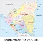 nicaragua administrative map | Shutterstock .eps vector #157973681