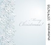 snowflakes merry cristmass | Shutterstock .eps vector #157976735