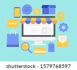 vector buying online and e...   Shutterstock .eps vector #1579768597