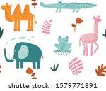 safari animals seamless pattern ... | Shutterstock .eps vector #1579771891
