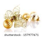 new year's balls. christmas...   Shutterstock . vector #157977671