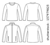 jacket and long sleeved t shirt ... | Shutterstock .eps vector #157979825