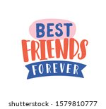 Best Friends Forever Hand Draw...