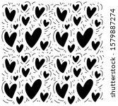 doodle pattern for print design ... | Shutterstock .eps vector #1579887274
