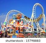 amusement park rides | Shutterstock . vector #15798883