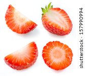 strawberry isolated.... | Shutterstock . vector #157990994