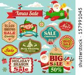 christmas sale tags  labels and ... | Shutterstock .eps vector #157991045