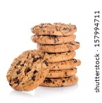 chocolate chip cookies isolated ... | Shutterstock . vector #157994711