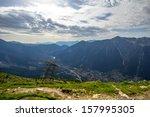 alpine meadow in mont blanc...
