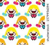 seamless pattern. cute smiling... | Shutterstock .eps vector #1579956094