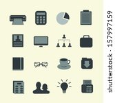 business icons set.... | Shutterstock .eps vector #157997159